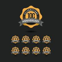 100-jarig jubileumvieringen vector sjabloonontwerp illustratie