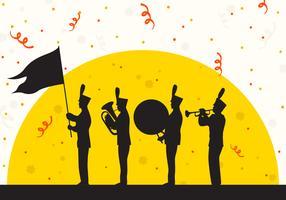 Silhouet van Parade Festival vectorillustratie