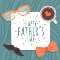 gelukkige vaders dag vector