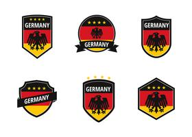 Duitsland voetbal patch vector