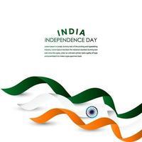 gelukkige india onafhankelijkheidsdag viering vector sjabloon ontwerp illustratie