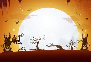 halloween achtergrondontwerp. gelukkige halloween-dag vector.