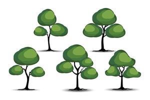 realistische bomen op witte achtergrond. eps10 vectorillustratie.