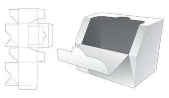 met ritssluiting afgeschuinde doos gestanst sjabloon vector