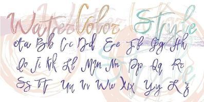 vector alfabet in aquarel stijl. ideaal voor ansichtkaarten, prints, uitnodigingen en vele andere toepassingen.