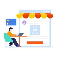 online winkelen of e-commerce concept