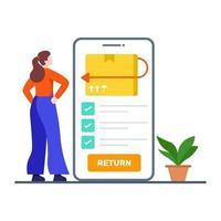 terugkeer- of uitwisselingsbeleid concept vector
