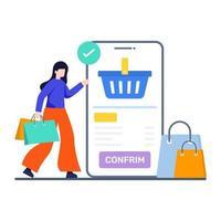 orderbevestiging pagina concept