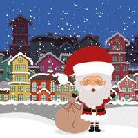 vrolijke kerstkaart met de kerstman