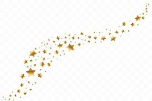 vallende gouden sterren. wolk van gouden sterren geïsoleerd