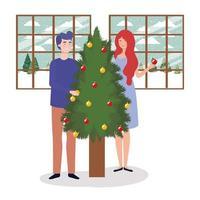 paar vieren kerst