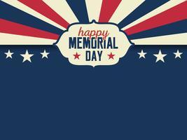 Amerikaanse stijlachtergrond voor herdenkingsdag vector