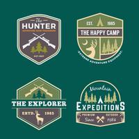 Set van trekking badge vector