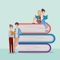 groep studenten die boeken lezen