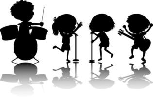 aantal kinderen silhouet met reflex vector