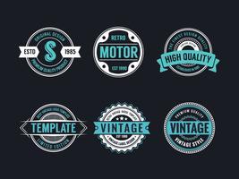 Circle Vintage en Retro Badge Design Collection vector