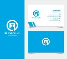 visitekaartje met logo r vector, eps 10 vector