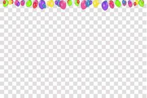 kleursamenstelling van vector realistische ballonnen geïsoleerd. ballonnen geïsoleerd. voor verjaardagswenskaarten of andere ontwerpen