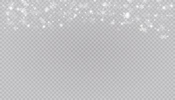 witte sneeuw vliegt. kerst sneeuwvlokken. winter blizzard achtergrond illustratie. vector