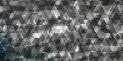 lichtgrijze vectorlay-out met lijnen, driehoeken.