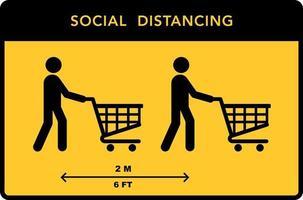 sociale afstandsbanner. hou afstand