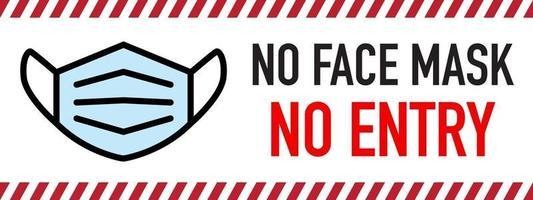 geen gezichtsmasker, geen toegangsteken vector