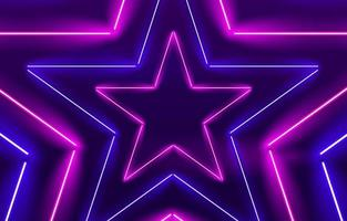 neon ster lichte achtergrond
