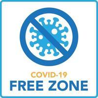 Covid vrije zone teken symbool vector