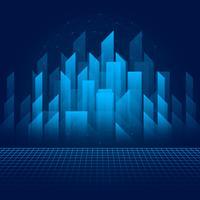Lichtstralen Abstract gebouw technologie achtergrond vector