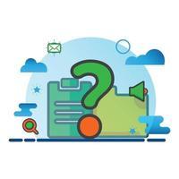 vraagteken illustratie. platte vector pictogram