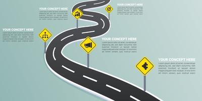 Uitstekende wegenkaart Vectoren