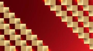 gouden vierkante papier kunst achtergrond vectorillustratie vector