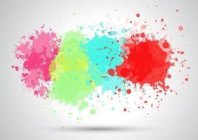abstracte achtergrond met een aquarel ploetert ontwerp vector