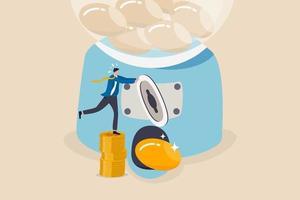 roi, return on investment of een concept voor het investeren van hoge winst en succes in aandelen vector