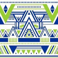 etnisch oosters ontwerp op veelkleurig vector naadloos patroon met abstracte vormen. traditionele vintage tribale samenvatting met blauw, groen en wit behang, doekontwerp, stof, textiel.
