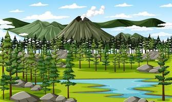 een groene natuur landschap-achtergrond
