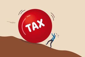 fout in de betalingstermijn van de belasting of geen financiële planning voor een belastingvrij investeringsconcept vector