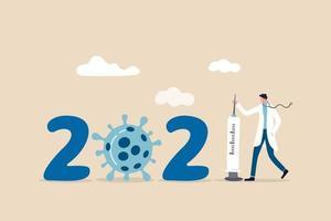 vaccinatie tegen het coronavirus in het jaar 2021 vector