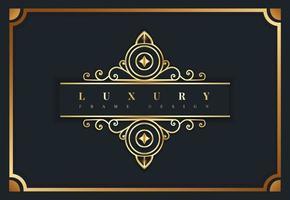 luxe koninklijk gouden frame vector