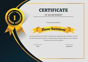 certificaat ontwerpsjabloon voor prestatie vector