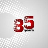 85 jaar verjaardag vector sjabloonontwerp illustratie