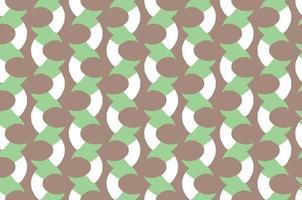hand getrokken, bruin, groen, wit kleuren naadloos patroon vector