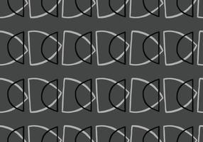 hand getrokken, grijze, zwarte kleuromtrek vormen naadloze patroon vector
