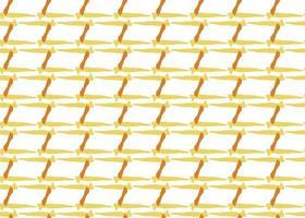 hand getrokken, geel, oranje, wit naadloze kleurenpatroon vector