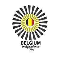 gelukkige belgische onafhankelijkheidsdag viering poster vector sjabloonontwerp illustratie