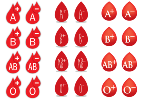 Bloedgroep Drops vector