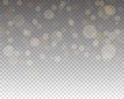 abstract bokeh licht. gloeiende bokehlichten geïsoleerd vector