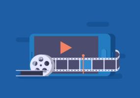 Videobewerkingsvector vector