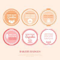 Vector bakkerij badges