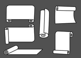 Gescrolde papieren vectoren